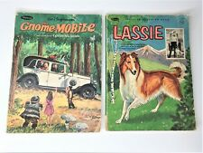 Vintage LASSIE & Disney's The Gnome-Mobile Coloring Books Authorized Editions 65