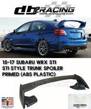 ST-Style Rear Trunk Spoiler (ABS Plastic) PRIMED Fits 15-17 Subaru WRX STi 4dr