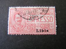 *LIBYA, SCOTT # E1, 25c VALUE SPECIAL DELIVERY OVERPRINTED 1915-16 ISSUE USED