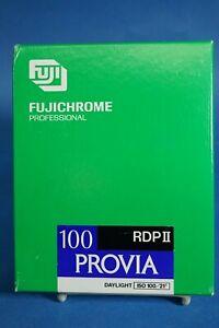 FUJICHROME FUJI 100F RDPIII PROVIA 42 SHTS 4X5 ISO 100 FILM FROZEN EXP 1996
