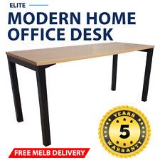 Elite Modern Home Office Desk Black Frame New Oak Desk Top