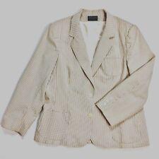 Haberdashery By Personal Womens Jacket Vintage Beige Size 18