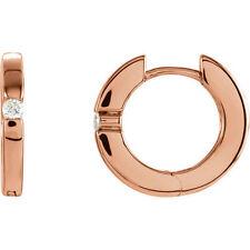 Orecchini a cerchio con Diamanti in 14k oro rosa