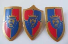Playmobil chevalier/château Extras: 3 Royal Lion Bouclier NEUF