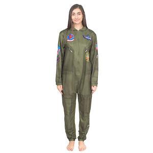 Top Gun Flight Suit Costume Pajama Union Suit