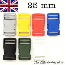 25mm Plastic Side Release Buckles Fasteners For Webbing Straps Pack of 2