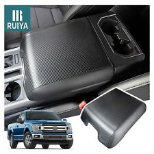 Black Center Middle Console Lid Armrest Cover Replace for Ford F150 Trucks 2004-2018 Pickup Truck Your Console Should Match Photo Shown and Lid Must Open