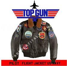 "Giubbotto replica in pelle ""MADE IN USA"" da pilota ""TOP GUN"" Maverick Tom Cruise"