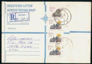 Mayfairstamps RSA 1949 Reg Knysna Publications Yellow Flower Block Cover wwm_617