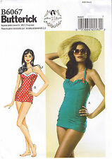 Vintage 50s Retro One 1 Piece Swimsuit Sewing Patterns by Gertie 14 16 18 20 22