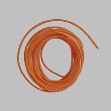 4 METRES DE CORDON LACET PLAT ORANGE ASPECT DAIM FACON SUEDINE 3mm