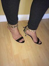 Zara Estampado De Serpiente Correa Sandalias Puntera Abierta UK7
