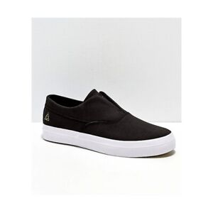 HUF DYLAN SLIP ON BLACK WHITE GOLD LEATHER FREE POSTAGE AUSTRALIAN