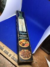 "Vintage Taylor Stainless Steel Candy Thermometer 12"" Original Box"