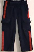 Gymboree Toddler Boy's Sz 3T Sweat Pants Elastic Waist Navy Blue Red Leg Stripe