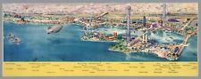 Century Progress Exhibition Chicago 1933 birds eye pictorial map POSTER 12421010