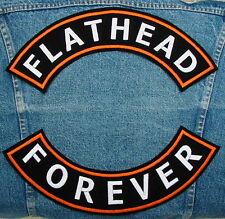 Large FLATHEAD Rocker Set Biker Motorcycle Patch by DIXIEFARMER