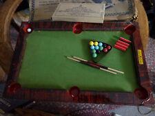 Vintage miniature Pocket Billiard table Gotham tin toy