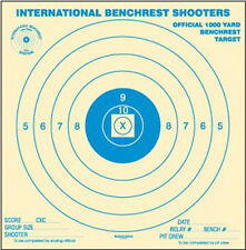 """(25) IBS 1000 Yard BR Bench Rest Target, Printed in Blue, 42"""" x 42"""", rolled"""
