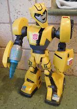 "2007 Talking Light Up 11"" TRANSFORMERS BUMBLE BEE Figure Toy Street Patrol"