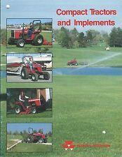 Farm Brochure - Massey Ferguson - Compact Tractors Implements - c1987  (F5183)