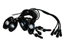 Rock Light Kit 4x White LED Under Glow with wiring Wheel Well body frame fender
