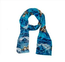 Ocean Animals Animal Viscose Scarf - Sea Otter and Dolphins from My Paintings