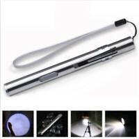 8000LM Pocket LED Flashlight USB Rechargeable LED Torch Mini Penlight Lamp