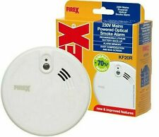 FireX KF20R Mains Powered Rechargeable Lithium Battery Optical Smoke Fire Alarm