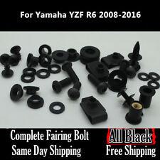 NT Complete Black Fairing Bolt Kit Body Screws for Yamaha 2008-2015 YZF R6 Ta11