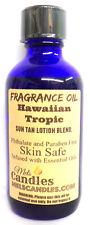 Hawaiian Tropic Type 4 Ounce / 118 ml Blue Glass Bottle of Fragrance Oil / Essen