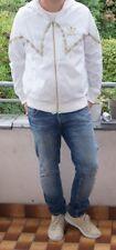 Stylische Adidas Regenjacke weiß/ gold selten Glanz Gr. L