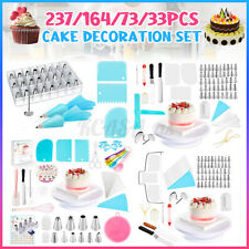 237PCS Set Cake Decorating Supplies Pieces Kit Baking Tools Turntable Stand_