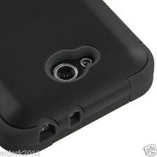 LG OPTIMUS L90 D415 TMOBILE METRO HYBRID T ARMOR CASE SKIN COVER BLACK BLACK
