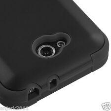 LG OPTIMUS L90 D415 TMOBILE METRO HYBRID T ARMOR CASE SKIN COVER BLACK BLACK