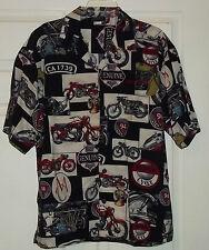 Kawasaki Men's Motorcycle Pattern Shirt L/G  SS