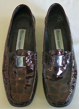 Etienne Aigner luxury flats patent leather brown ladies' , size 6 1/2 Medium