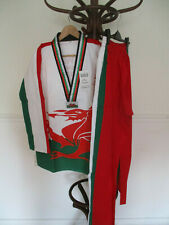 TAE KWON DO WELSH FLAG SUIT 2013 WORLD CHAMPIONSHIP NEW WITH TAGS SIZE 4 / 170