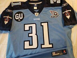 Cortland Finnegan 2008 Tennessee Titans NFL Reebok Authentic Game Jersey Sz 50