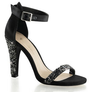 """FABULICIOUS Clearly-436 4 1/2"""" Heel Ankle-Strap Sandal"""