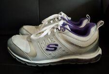 Women's SKECHERS SPORT REVV AIR Athletic Shoes Silver/Purple Size 6 EUC