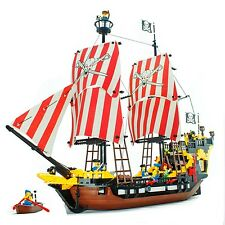Building Bricks Blocks Pirates of Caribbean BLACK PEARL Ship Toy Minifigure 308