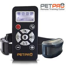 Petpro REMOTE DOG TRAINING COLLAR & automatique écorce Contrôle portée 800 M étanche