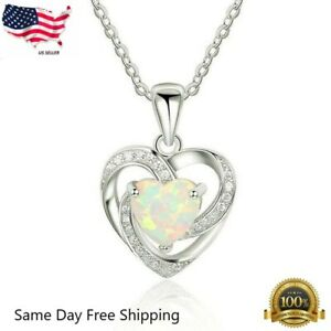 "Silver 925 SF Red Lab Fire Opal DOLPHIN-LOVE-HEART Pendant 1.25/"" Long"
