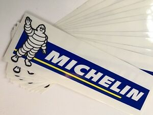 Lot of 10 Genuine Michelin Sticker Decal (clear) New Old Stock