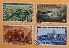Switzerland 1944 Pro Patria Stamps Used
