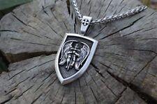 "Archangel Saint ""St Michael Protect Us"" Pray Prayer Pendant Medal Necklace Chain"