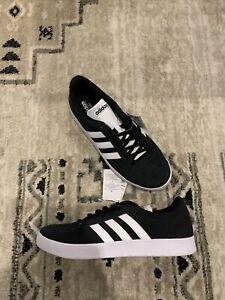 adidas VL Court 2.0 Skate Shoes Men's Size 10.5 Black/ White DA9853