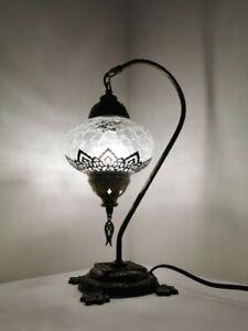 Bohemian Turkish Moroccan Style Crackle Glass Ottoman Lamp Desk Table Lamp