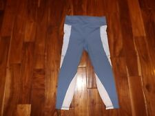 New Womens Active Life Blue White Exercise Active Mesh Panels Pants Size S $89